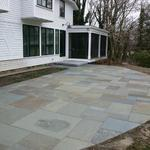 Angled Multiple Pattern Bluestone Patio