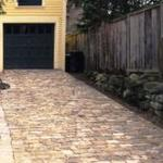 Antique  cobblestone (Belgian Block) ramp to carriage house