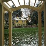 View of house through arbor