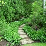 New England fieldstone stepping stone path